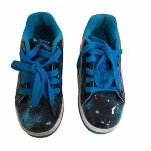 Heelys skate sneakers Blue Galaxy Wheeled Shoes 1